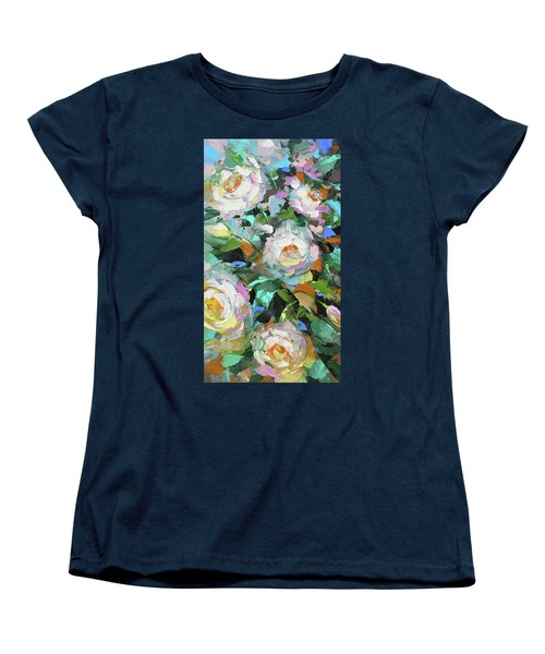 Women's T-Shirt (Standard Cut) featuring the painting Bouquet Of Peonies  by Dmitry Spiros