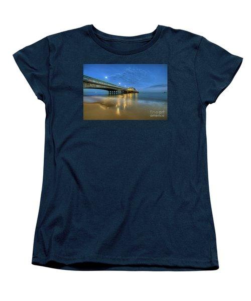 Women's T-Shirt (Standard Cut) featuring the photograph Bournemouth Pier Blue Hour by Yhun Suarez