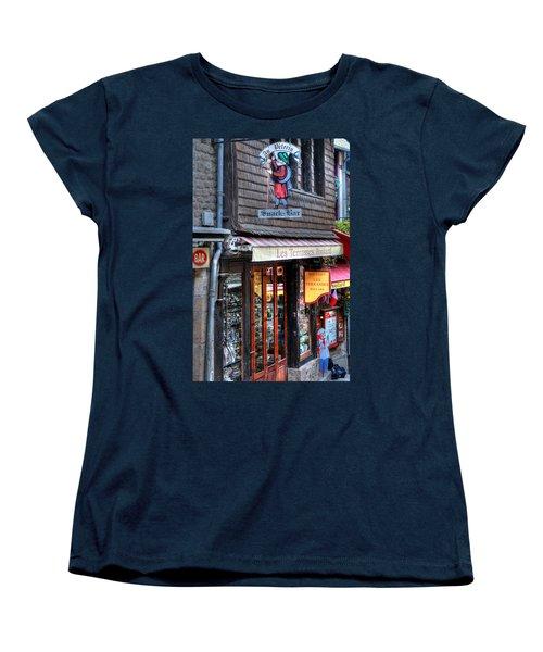 Women's T-Shirt (Standard Cut) featuring the photograph Boutique Les Terasses Poulard by Tom Prendergast
