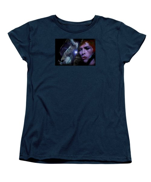Bowie   A Welcome Star Women's T-Shirt (Standard Cut) by Glenn Feron