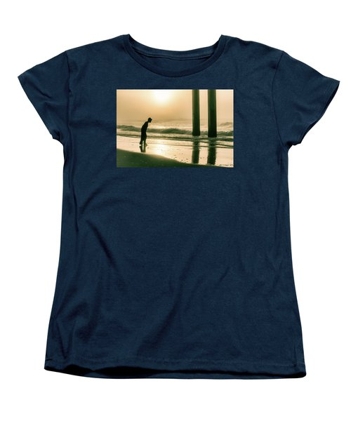 Women's T-Shirt (Standard Cut) featuring the photograph Boy At Sunrise In Alabama  by John McGraw