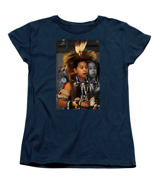 Brave And His Shadow Women's T-Shirt (Standard Cut) by Audrey Robillard