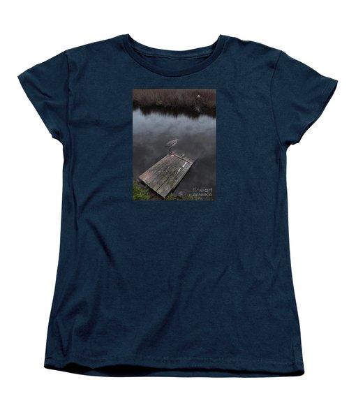 Brave Heron Women's T-Shirt (Standard Cut) by Expressionistart studio Priscilla Batzell