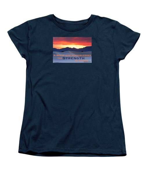 Brave Thoughts Women's T-Shirt (Standard Cut) by David Norman