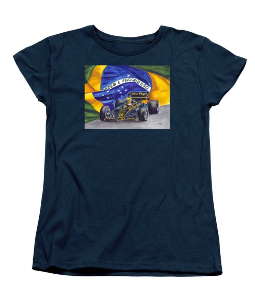 Brazil's Ayrton Senna Women's T-Shirt (Standard Cut)