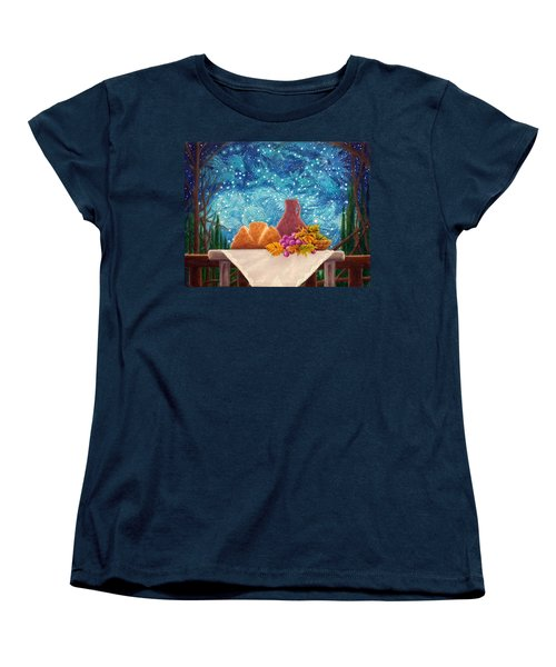 Women's T-Shirt (Standard Cut) featuring the painting Bread And The Fruit Of The Vine by Matt Konar