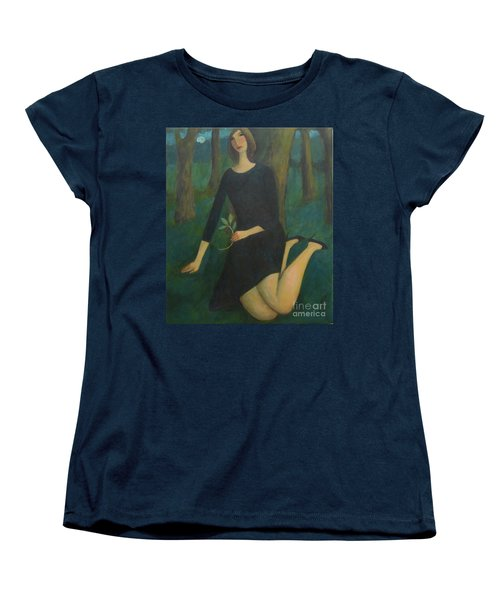 Women's T-Shirt (Standard Cut) featuring the painting Break In The Evening by Glenn Quist