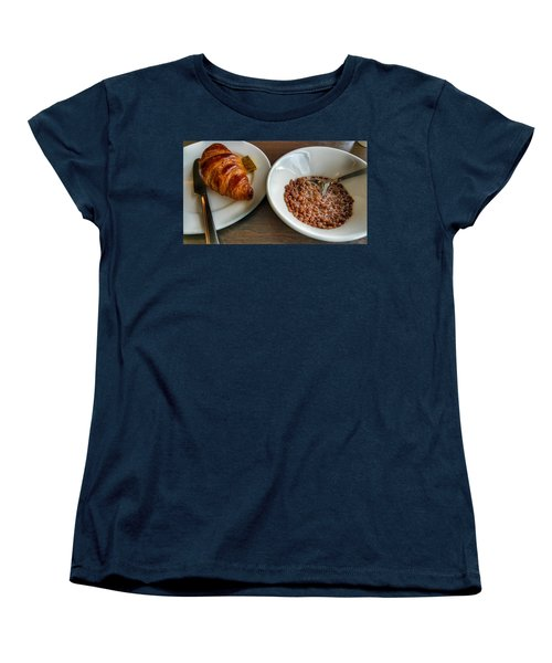 Breakfast Of Cereal And Croissant Women's T-Shirt (Standard Cut) by Isabella F Abbie Shores FRSA