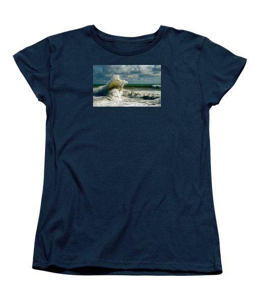 Breakwater Backwash Women's T-Shirt (Standard Cut) by Michael Cinnamond