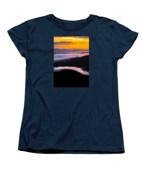 Breatthtaking Blue Ridge Sunrise Women's T-Shirt (Standard Cut) by Serge Skiba