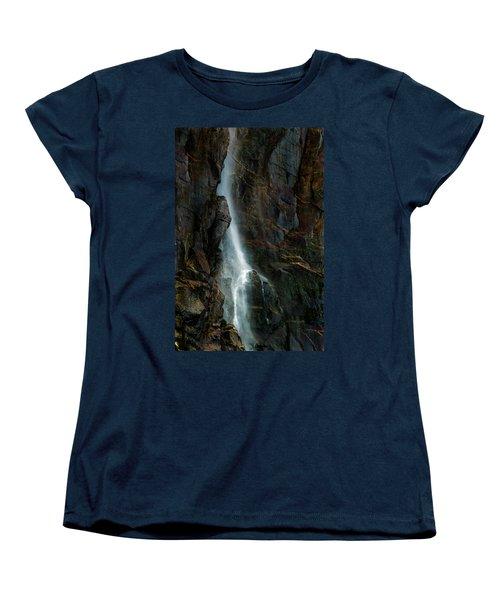 Women's T-Shirt (Standard Cut) featuring the photograph Bridalveil Falls In Autumn by Bill Gallagher
