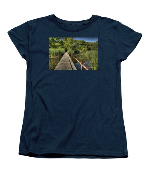 Bridge Into The Forest At Lake Murray Women's T-Shirt (Standard Cut) by Tamyra Ayles