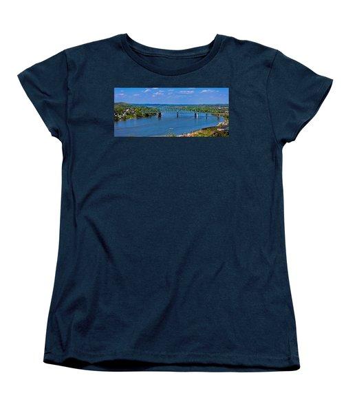 Bridge On The Ohio River Women's T-Shirt (Standard Cut) by Jonny D