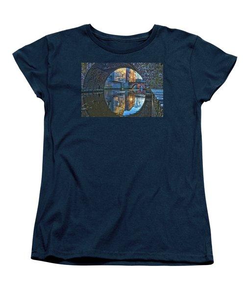 Bridges Across Binnendieze In Den Bosch Women's T-Shirt (Standard Cut) by Frans Blok