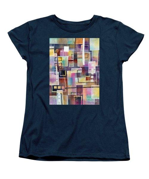 Women's T-Shirt (Standard Cut) featuring the painting Bridging Gaps by Hailey E Herrera