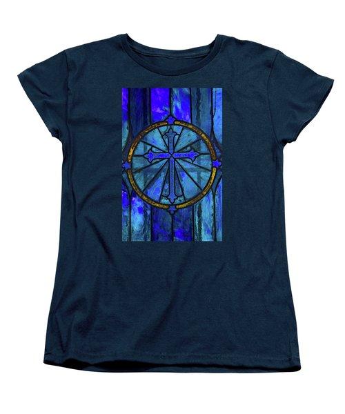 Brillant Blue Women's T-Shirt (Standard Cut) by Rowana Ray