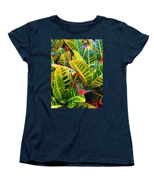 Brilliant Crotons Women's T-Shirt (Standard Cut) by Kay Gilley