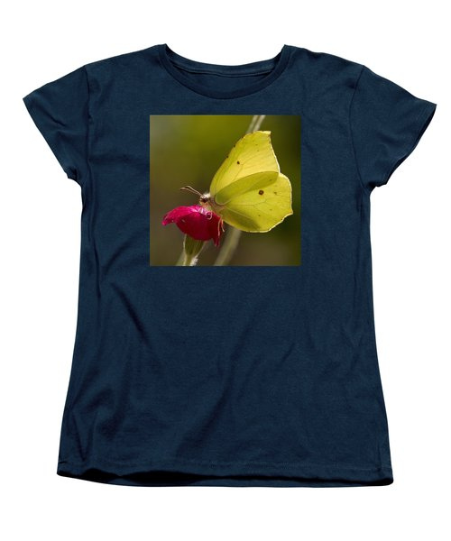 Women's T-Shirt (Standard Cut) featuring the photograph Brimstone 2 by Jouko Lehto