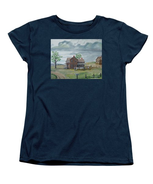 Bringing In The Clothes Women's T-Shirt (Standard Cut) by Norm Starks