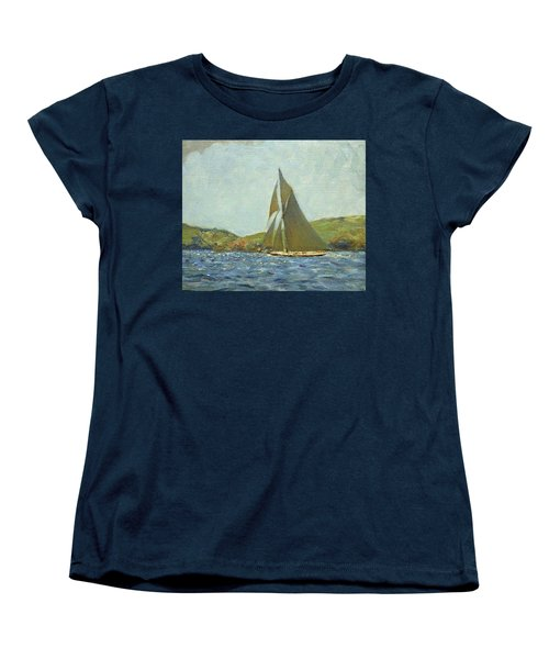 Women's T-Shirt (Standard Cut) featuring the painting Britannia by Henry Scott Tuke
