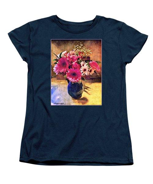 Brithday Wish Bouquet Women's T-Shirt (Standard Cut) by MaryLee Parker