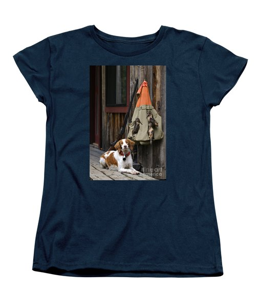 Brittany And Woodcock - D002308 Women's T-Shirt (Standard Cut) by Daniel Dempster