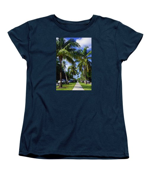 Women's T-Shirt (Standard Cut) featuring the photograph Broad Avenue South, Old Naples by Robb Stan