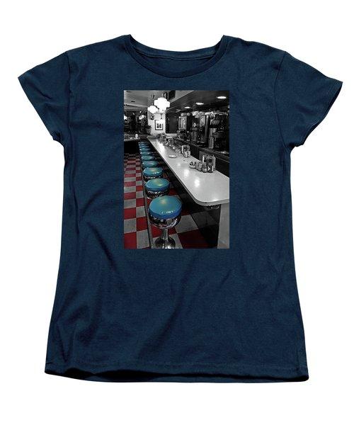 Broadway Diner Chairs Women's T-Shirt (Standard Cut) by Christopher McKenzie
