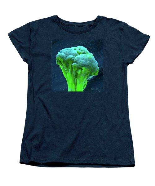 Broccoli 01 Women's T-Shirt (Standard Cut) by Wally Hampton