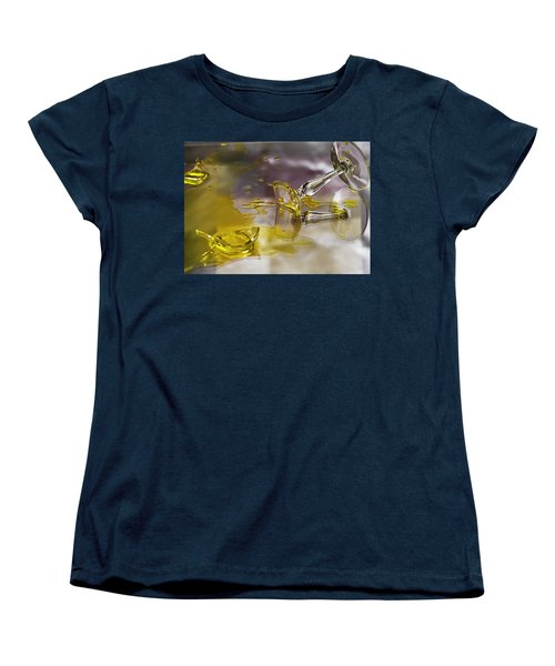 Women's T-Shirt (Standard Cut) featuring the photograph Broken Glass by Susan Capuano