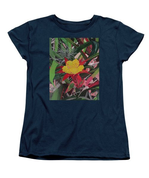 Bromelaid And Airplant Women's T-Shirt (Standard Cut) by Hilda and Jose Garrancho