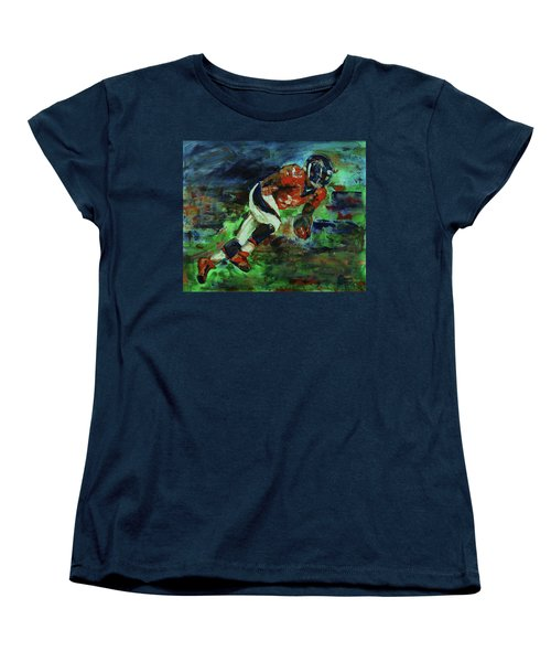 Broncos - Orange And Blue Horse Power Women's T-Shirt (Standard Cut) by Walter Fahmy