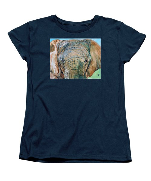 Bronze Elephant Women's T-Shirt (Standard Cut) by Raymond Perez