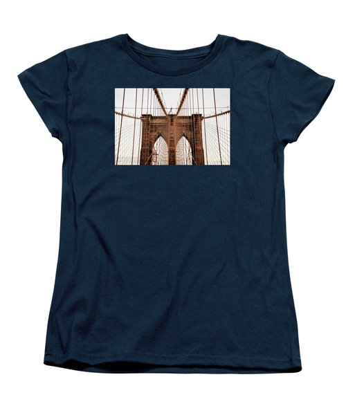 Women's T-Shirt (Standard Cut) featuring the photograph Brooklyn Bridge by MGL Meiklejohn Graphics Licensing