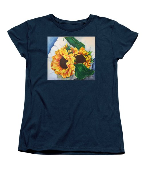 Brooklyn Sun Women's T-Shirt (Standard Cut) by Angela Armano