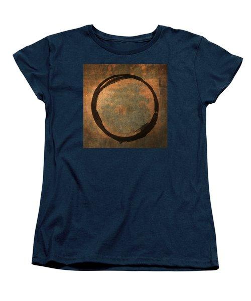 Brown Enso Women's T-Shirt (Standard Cut) by Julie Niemela