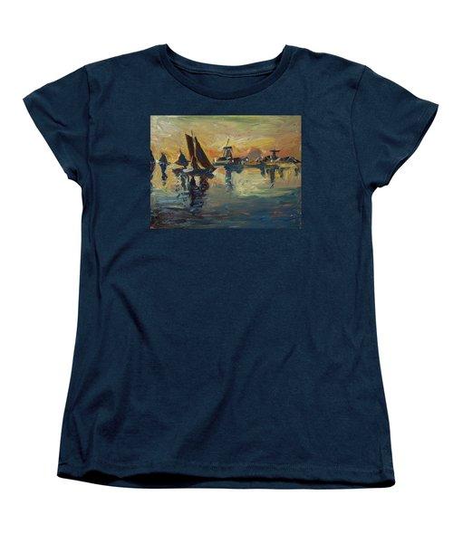 Brown Fleet On The Zaan Women's T-Shirt (Standard Cut) by Nop Briex