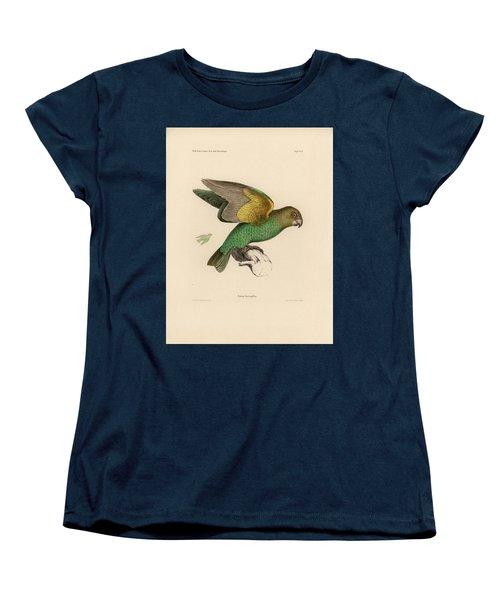 Brown-headed Parrot, Piocephalus Cryptoxanthus Women's T-Shirt (Standard Cut) by J D L Franz Wagner