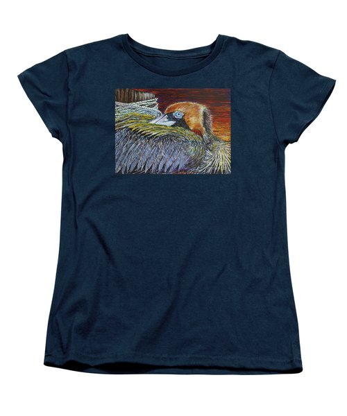Brown Pelican Women's T-Shirt (Standard Cut) by David Joyner