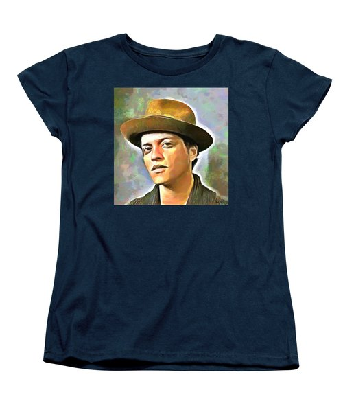Bruno Mars Women's T-Shirt (Standard Cut) by Wayne Pascall