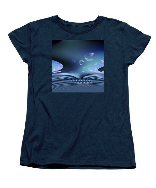 Bubble Abstract Women's T-Shirt (Standard Cut) by Robert G Kernodle