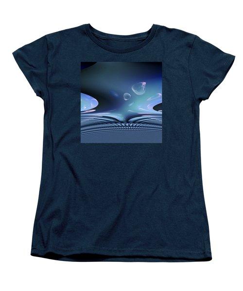 Bubble Abstract Women's T-Shirt (Standard Cut)