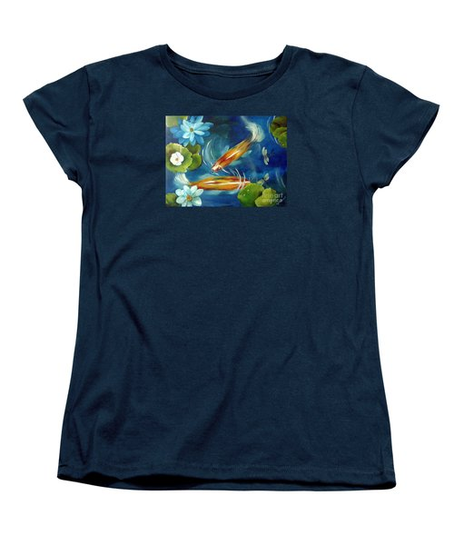 Women's T-Shirt (Standard Cut) featuring the painting Bubble Maker by Carol Sweetwood