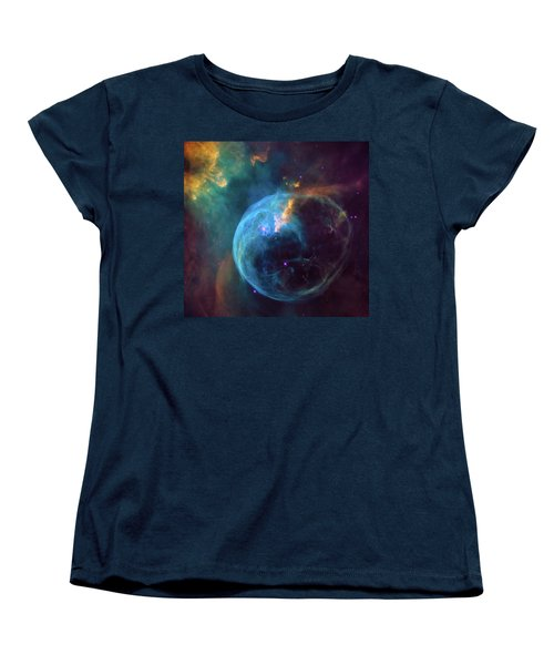 Women's T-Shirt (Standard Cut) featuring the photograph Bubble Nebula by Marco Oliveira