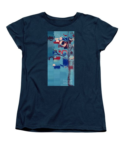 Women's T-Shirt (Standard Cut) featuring the painting Bubble Tree - 85e-j4 by Variance Collections