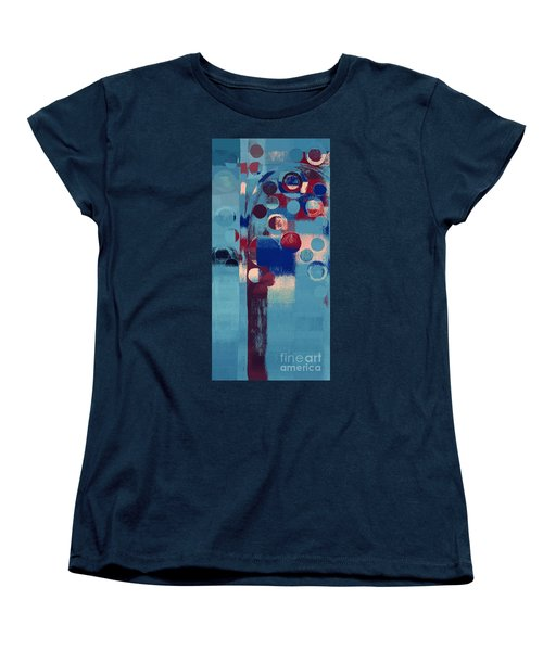 Women's T-Shirt (Standard Cut) featuring the painting Bubble Tree - 85l-j4 by Variance Collections
