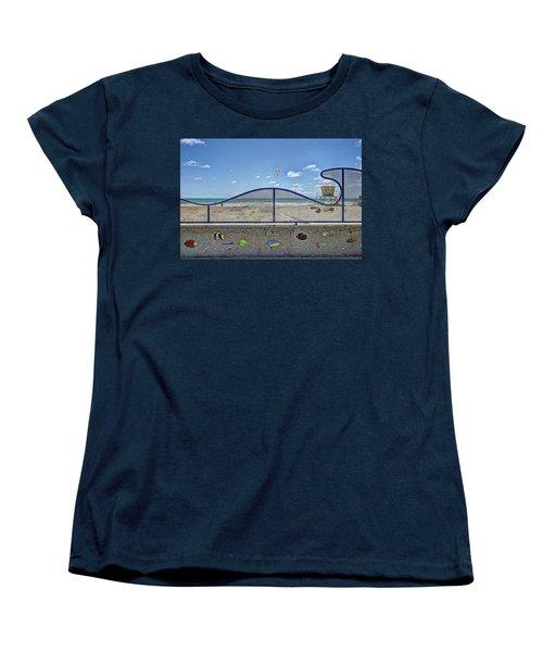 Buccaneer Beach Women's T-Shirt (Standard Cut) by Ann Patterson