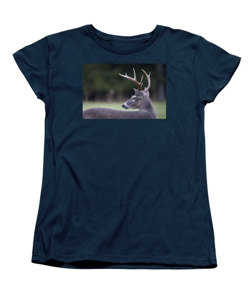 Women's T-Shirt (Standard Cut) featuring the photograph Buck by Tyson and Kathy Smith
