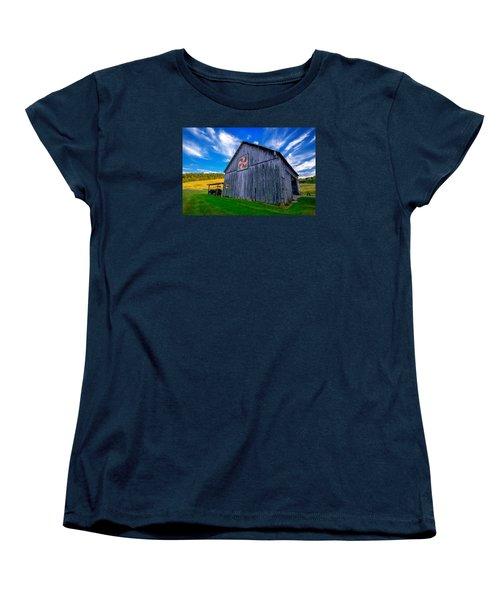 Women's T-Shirt (Standard Cut) featuring the photograph Buckeye Barn 2 by Brian Stevens