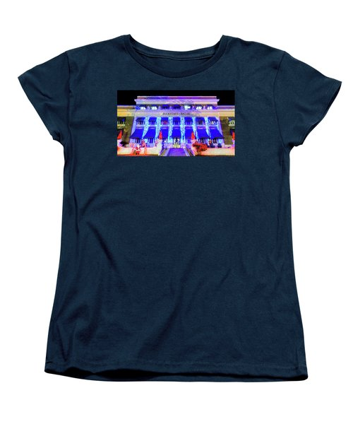 Women's T-Shirt (Standard Cut) featuring the photograph Buckstaff Baths - Christmastime by Stephen Stookey